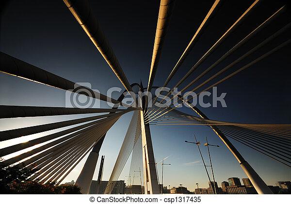bridzs, elvont, suspention, putrajaya, kilátás - csp1317435