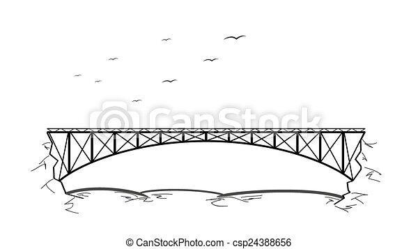 bridzs, felett, folyó - csp24388656