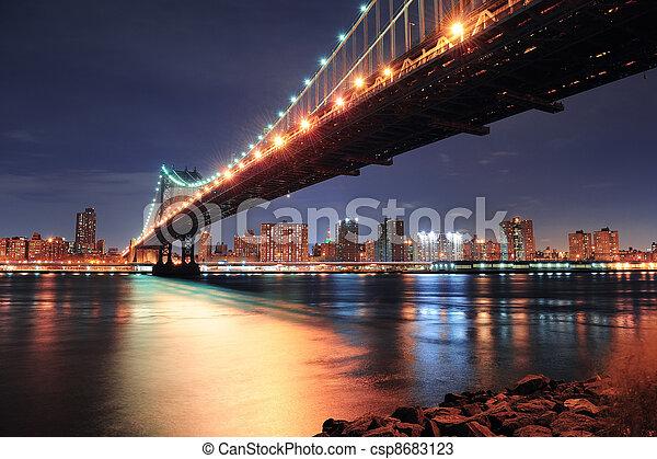 bridzs, york, város, manhattan, új - csp8683123