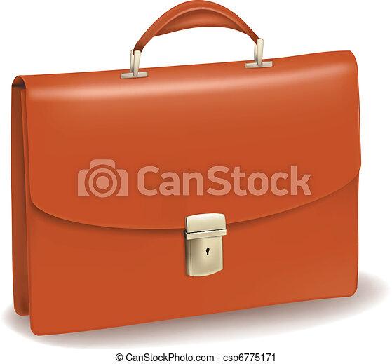 briefcase., negócio, marrom - csp6775171