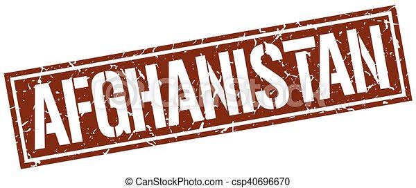 Afghanistan brauner Quadratstempel - csp40696670