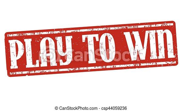 Spiel, um Zeichen oder Stempel zu gewinnen - csp44059236