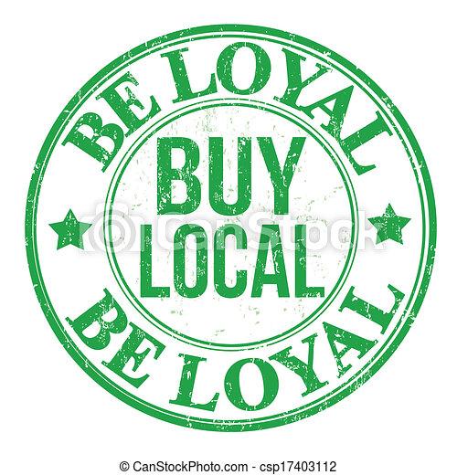 briefmarke, sein, loyal, kaufen, lokal - csp17403112