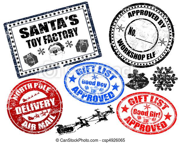 briefmarken, satz, weihnachten - csp4926065