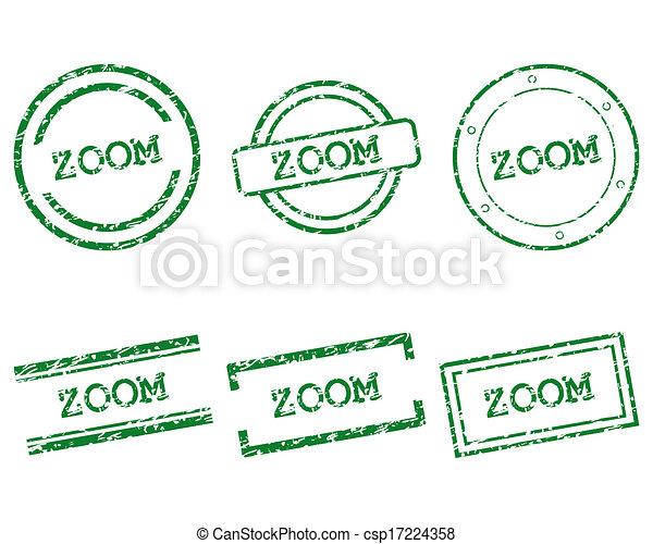 briefmarken, zoom - csp17224358