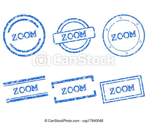 briefmarken, zoom - csp17640048