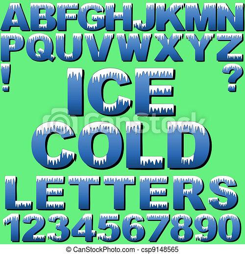 brieven, ijs - csp9148565