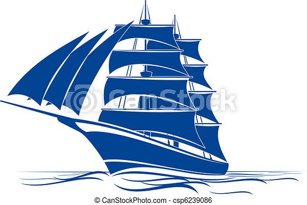 Brigantine ship - csp6239086