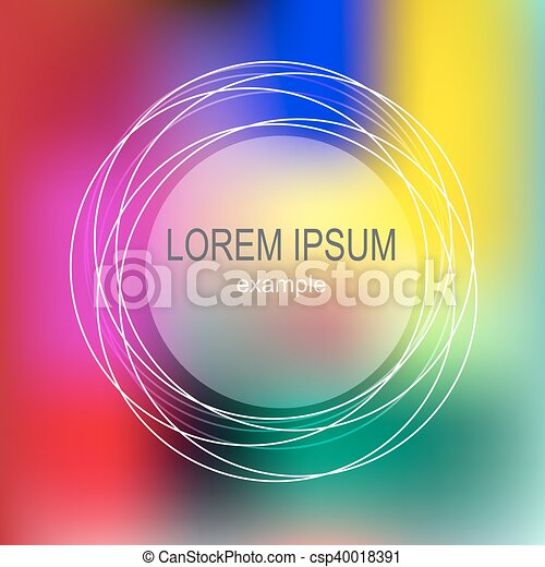 bright abstract frame - csp40018391