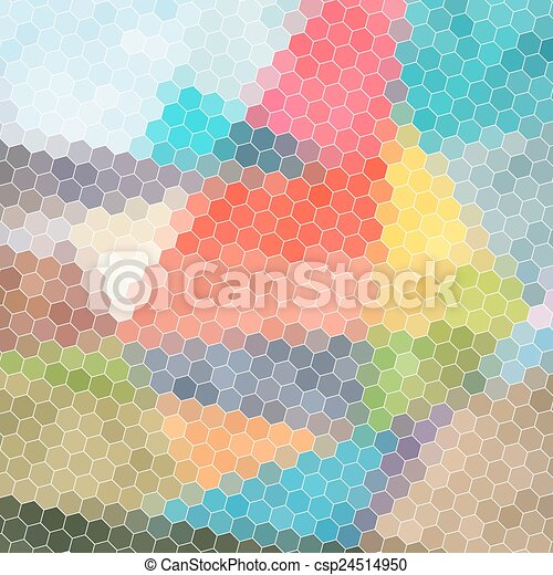 bright abstract pattern polygons - csp24514950