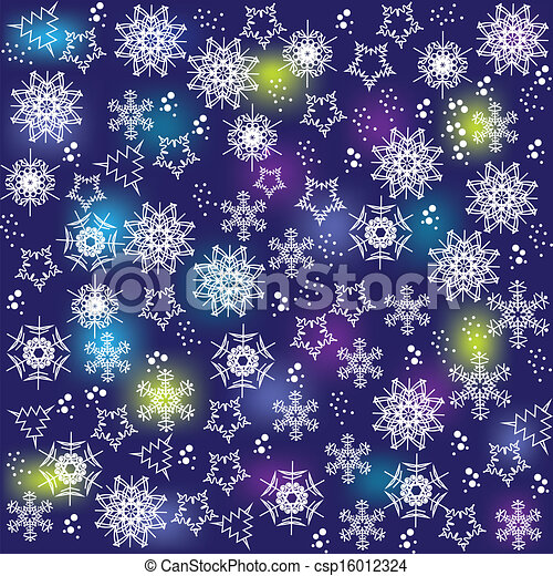 bright and cute christmas background with snowflakes for design vector