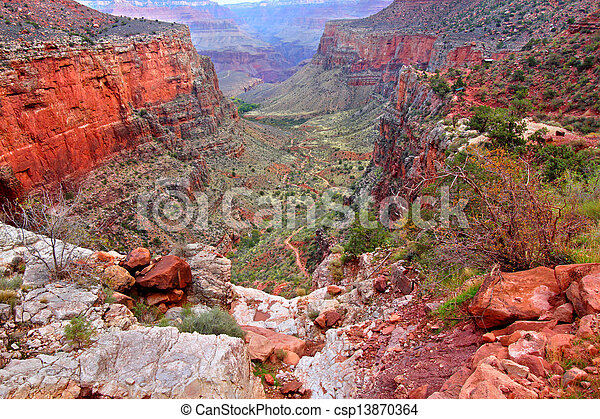 Bright Angel Trail Grand Canyon - csp13870364