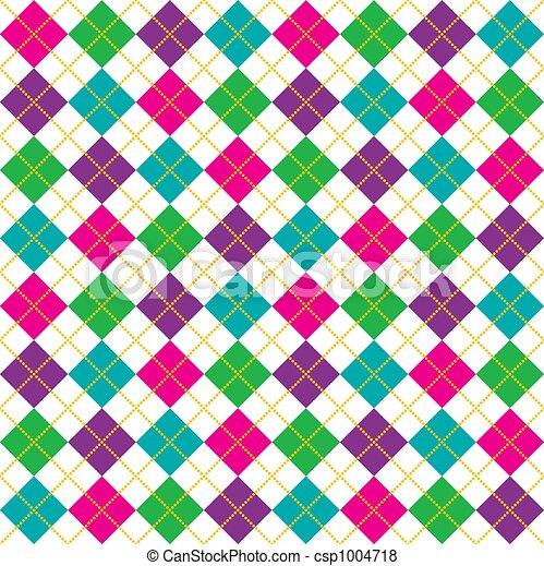 Bright Argyle Pattern - csp1004718