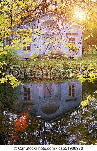 bright autumn tree in park - csp51908970