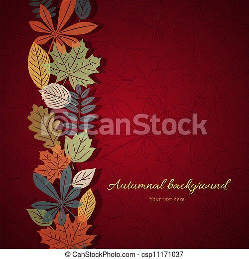 Bright autumn vector background - csp11171037