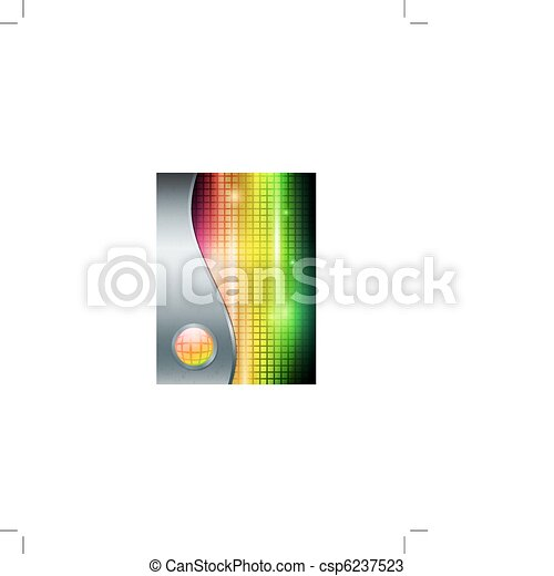 bright background in metal frame - csp6237523