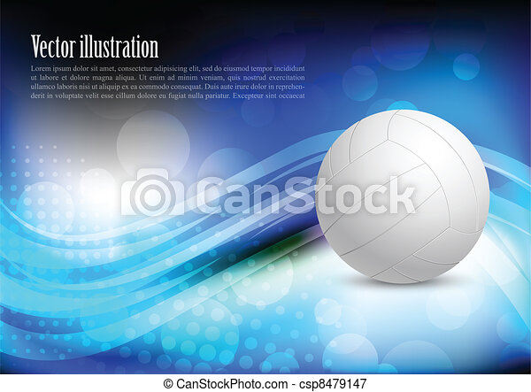 Bright background with ball - csp8479147