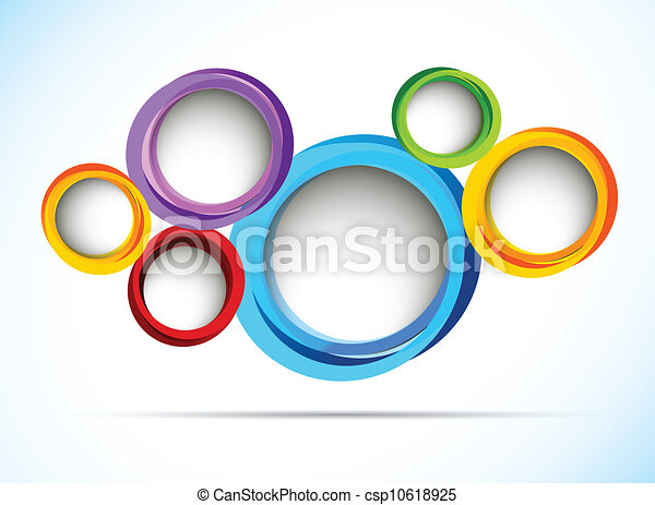 Bright background with circles - csp10618925