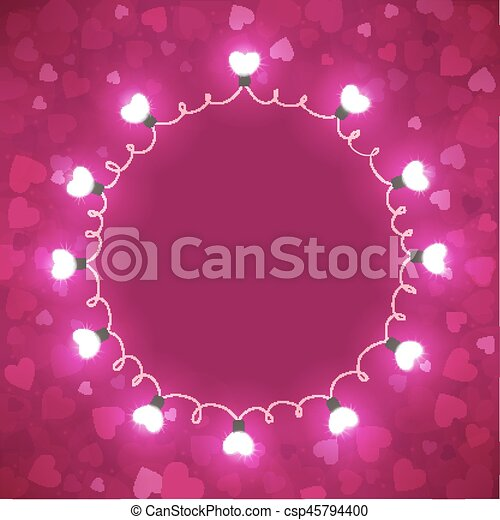 Bright background with hearts - csp45794400