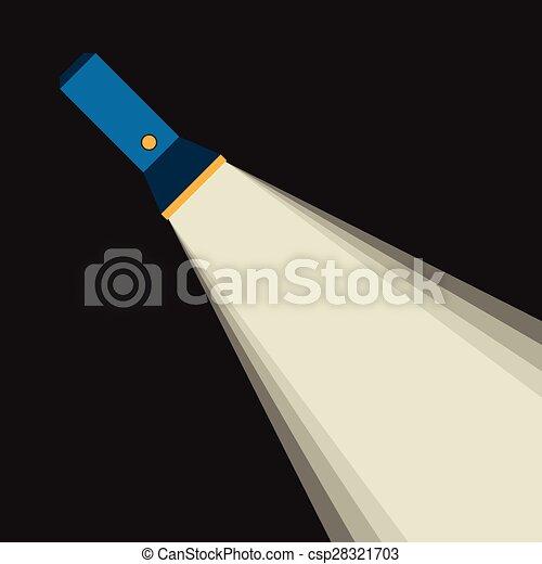 Bright beam of flashlight - csp28321703