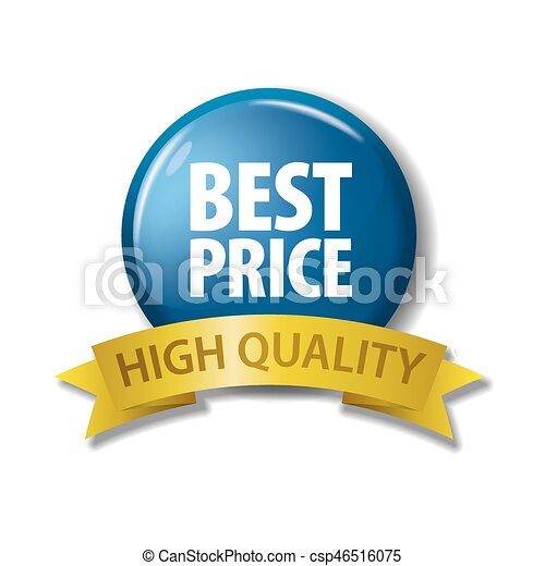 Bright blue button 'Best Price - High Quality' - csp46516075