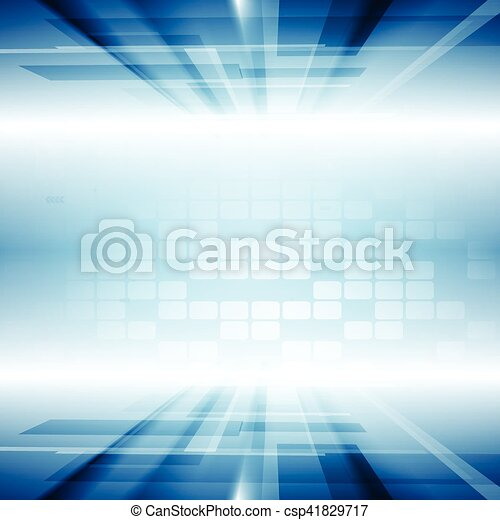 Bright blue motion technology vector background - csp41829717