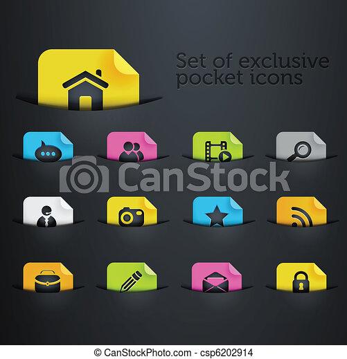 bright brilliant website icons - csp6202914