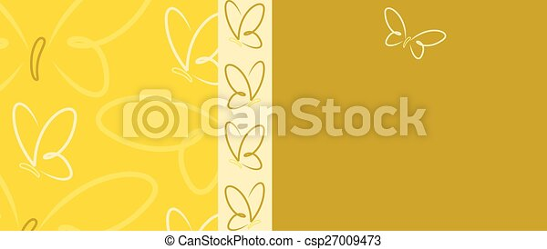 Bright Butterfly banner in vector format. - csp27009473