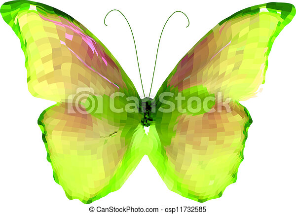 Bright butterfly. Vector - csp11732585