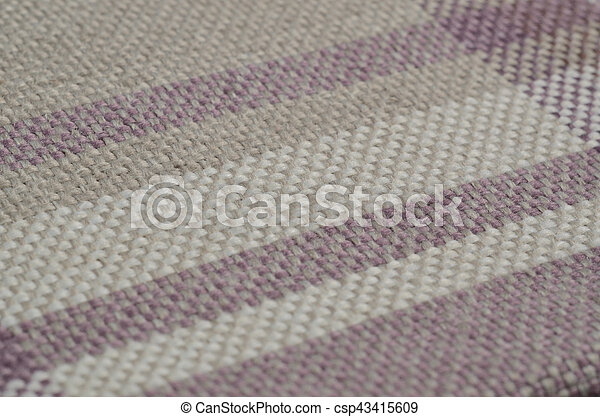 Bright collection of colorful gunny textile samples. Fabric texture background - csp43415609