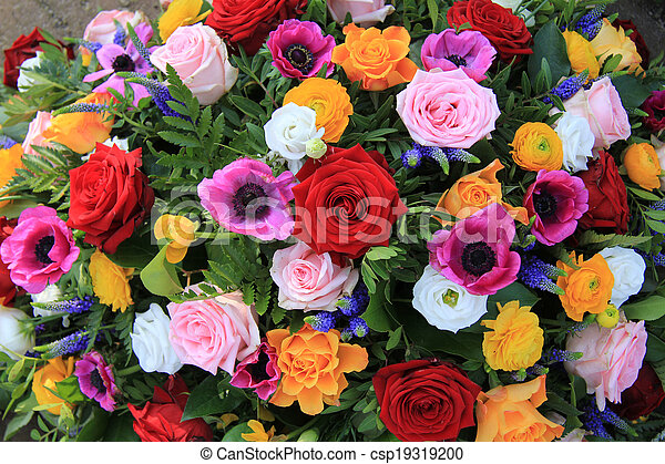 bright colored bridal flowers stock photography csp19319200