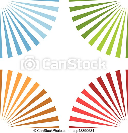 Bright colorful background with starburst at corners - csp43390634