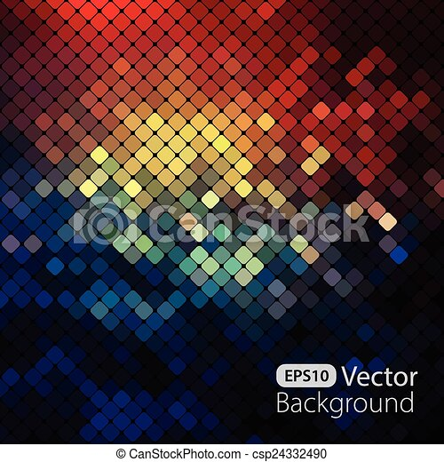 Bright colorful mosaic background - csp24332490