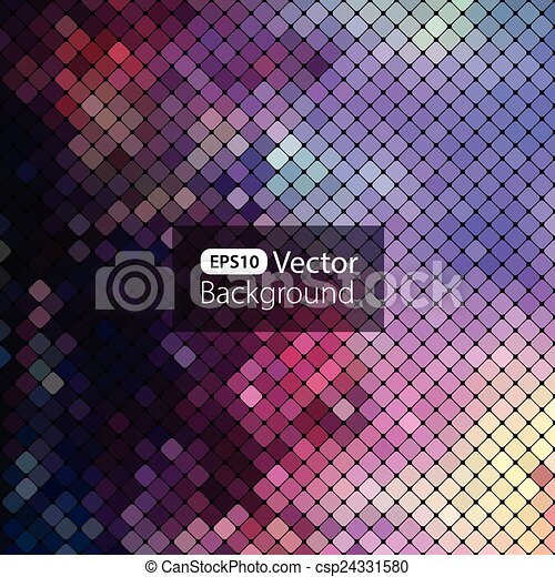 Bright colorful mosaic background - csp24331580