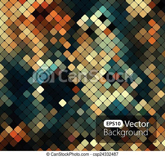 Bright colorful mosaic background - csp24332487