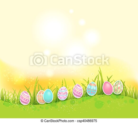 Bright easter background - csp40486975