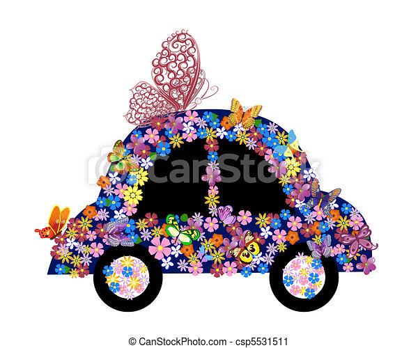 Bright floral car - csp5531511