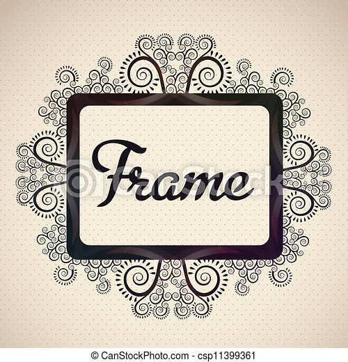 bright frame - csp11399361