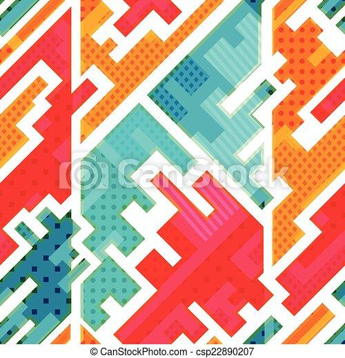 bright funky seamless pattern - csp22890207