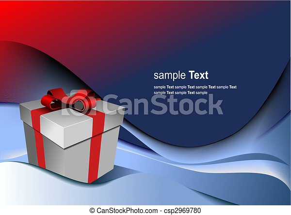Bright gift box by any holiday. Vector illustration - csp2969780