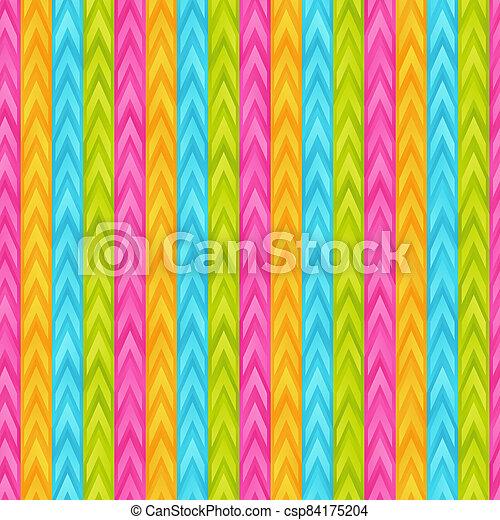 Bright Gradient Striped Seamless Pattern of Blue, Light, Green, Pink, Yellow Geometric Elements. - csp84175204