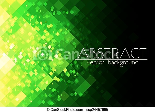 Bright green grid abstract horizontal background - csp24457995