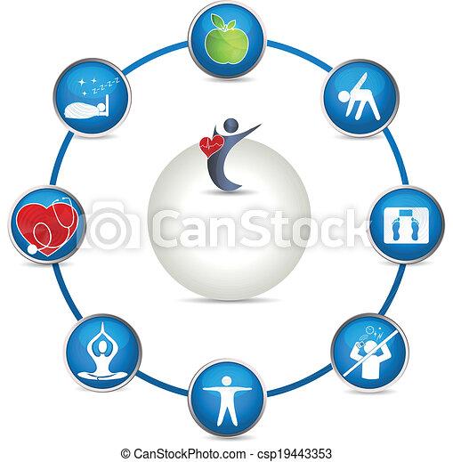 Bright Health care circle - csp19443353