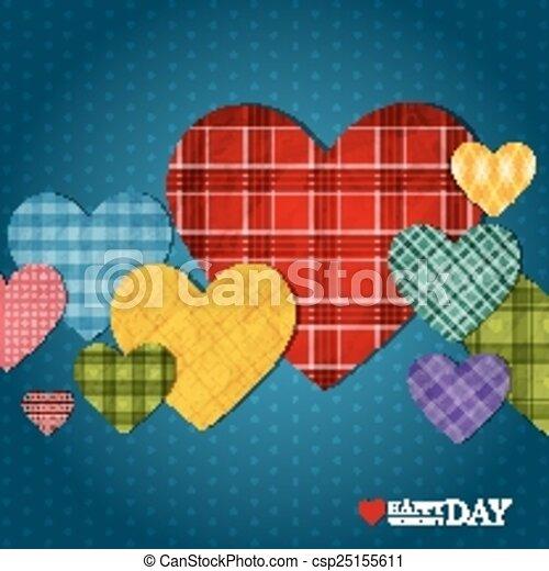 Bright hearts - csp25155611