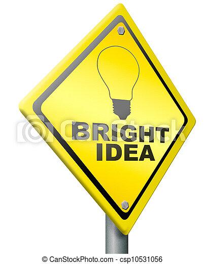 bright idea innovation eureka - csp10531056