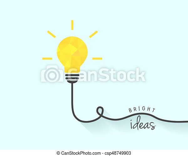 Bright Lightbulb As Idea Concept