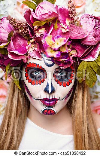 Bright Muertos Makeup