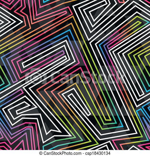 bright neon seamless pattern - csp18430134