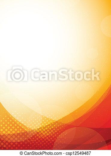 Bright orange background - csp12549487