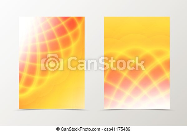 Bright orange background - csp41175489